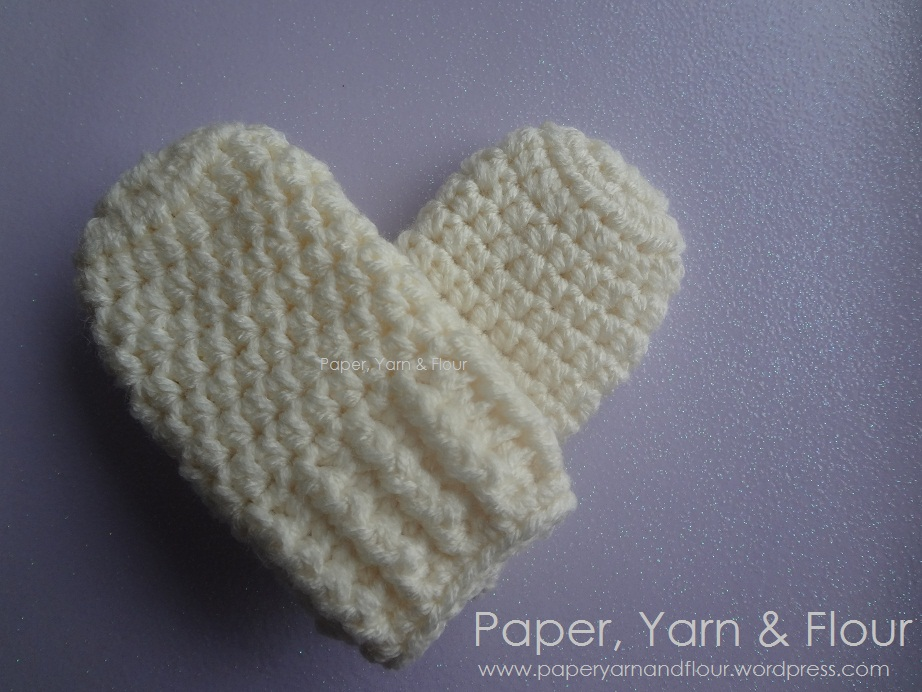 Baby Mittens Made With Love Paperyarnandflour